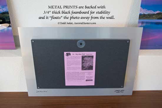 metal prints aurora hunter