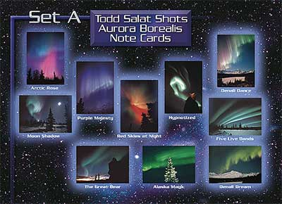 AuroraHunter Note Cards, Set A