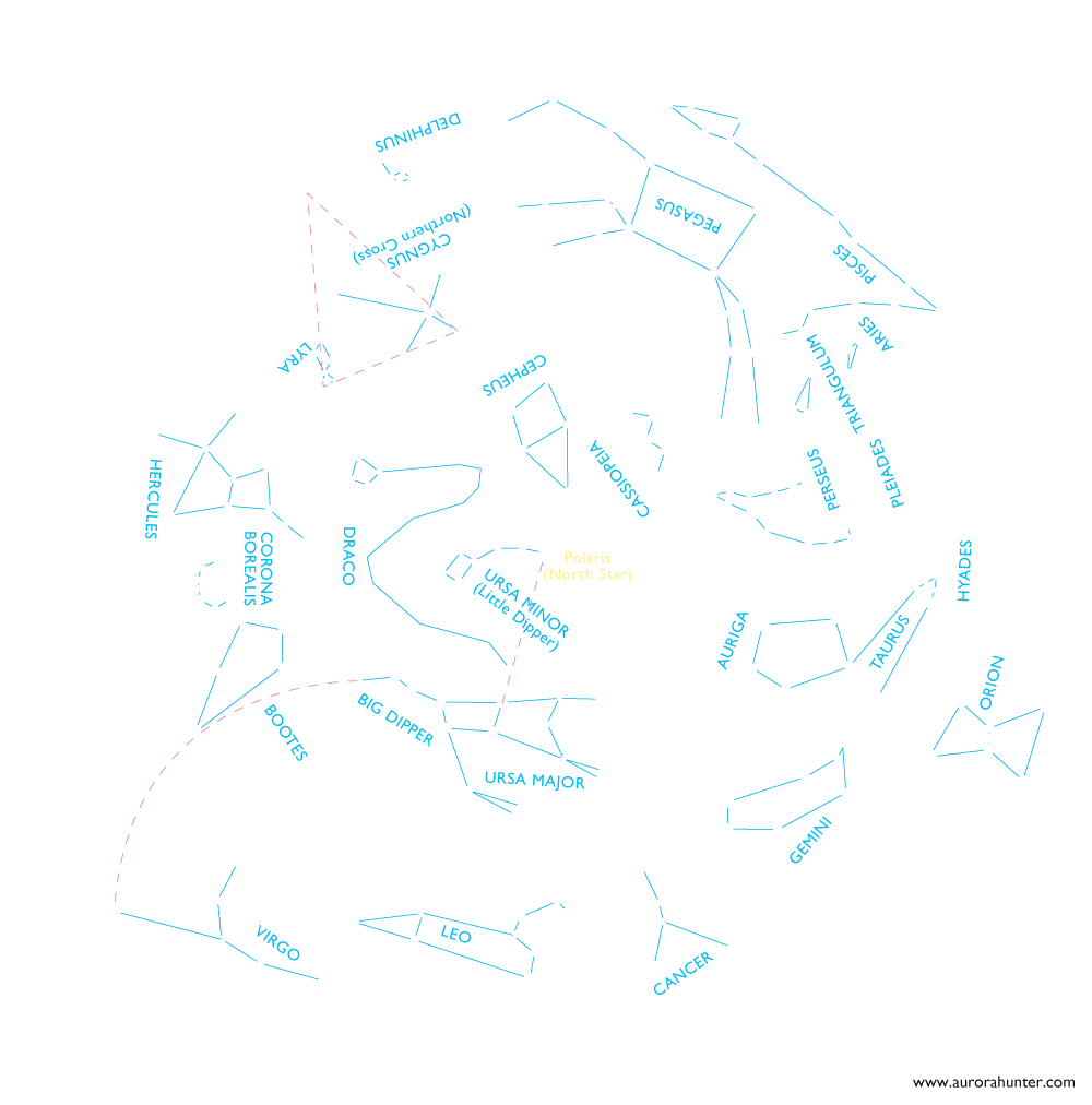 Star Chart Aurora Hunter
